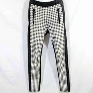 Only Houndstooth and Black Leggings